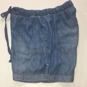 Anthropologie / Cloth&Stone Denim Blue Shorts XS